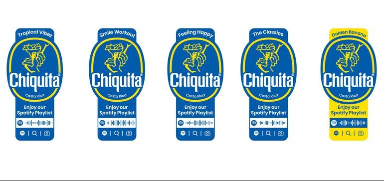 chiquita spotify καμπάνια stickers